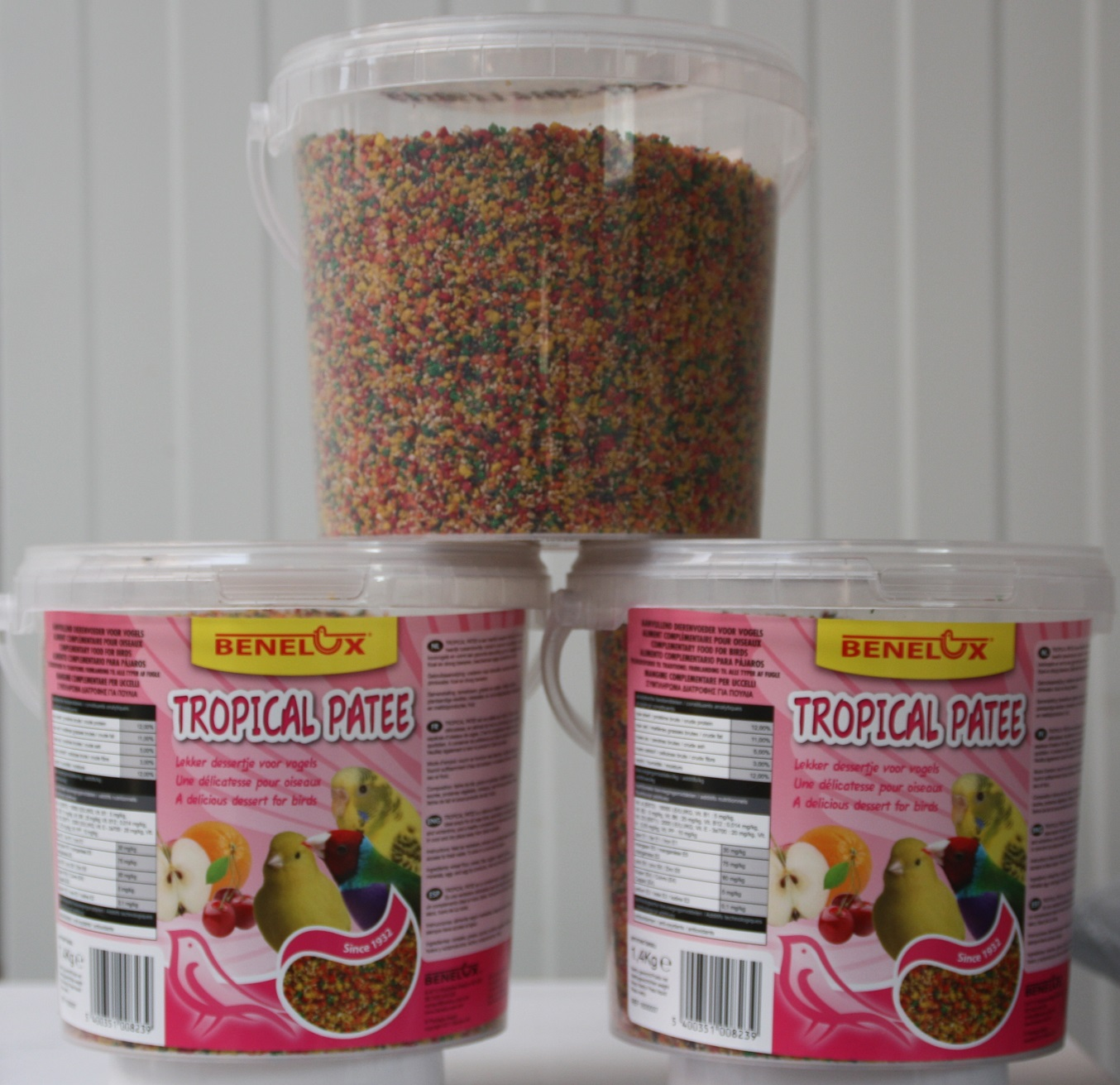 Patée mix fruits en seau de 1.4kg
